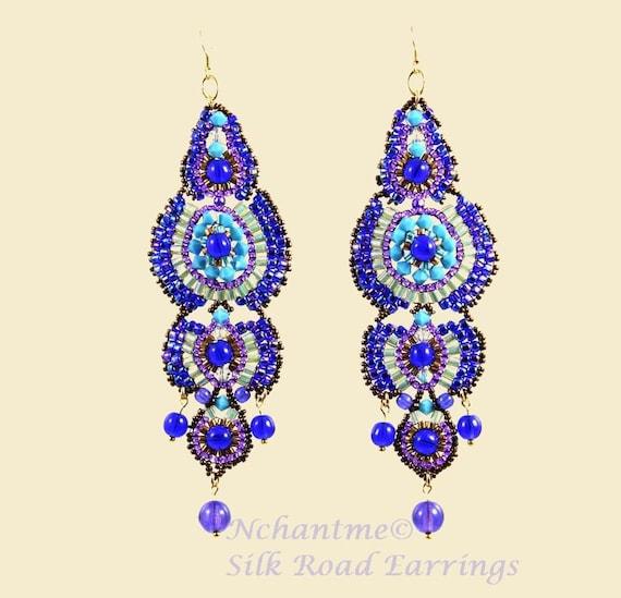 Silk Road Earrings Pattern Instant Download