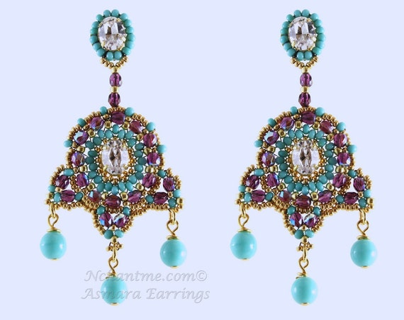 Asmara Earrings Pattern Instant Download