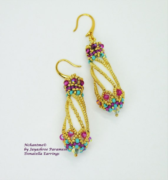 Donatella Earrings Tutorial Instant Download