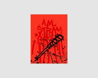 Print - Am Stram Gram - Eenie Meenie Miney Mo - Walking Dead - Lucille