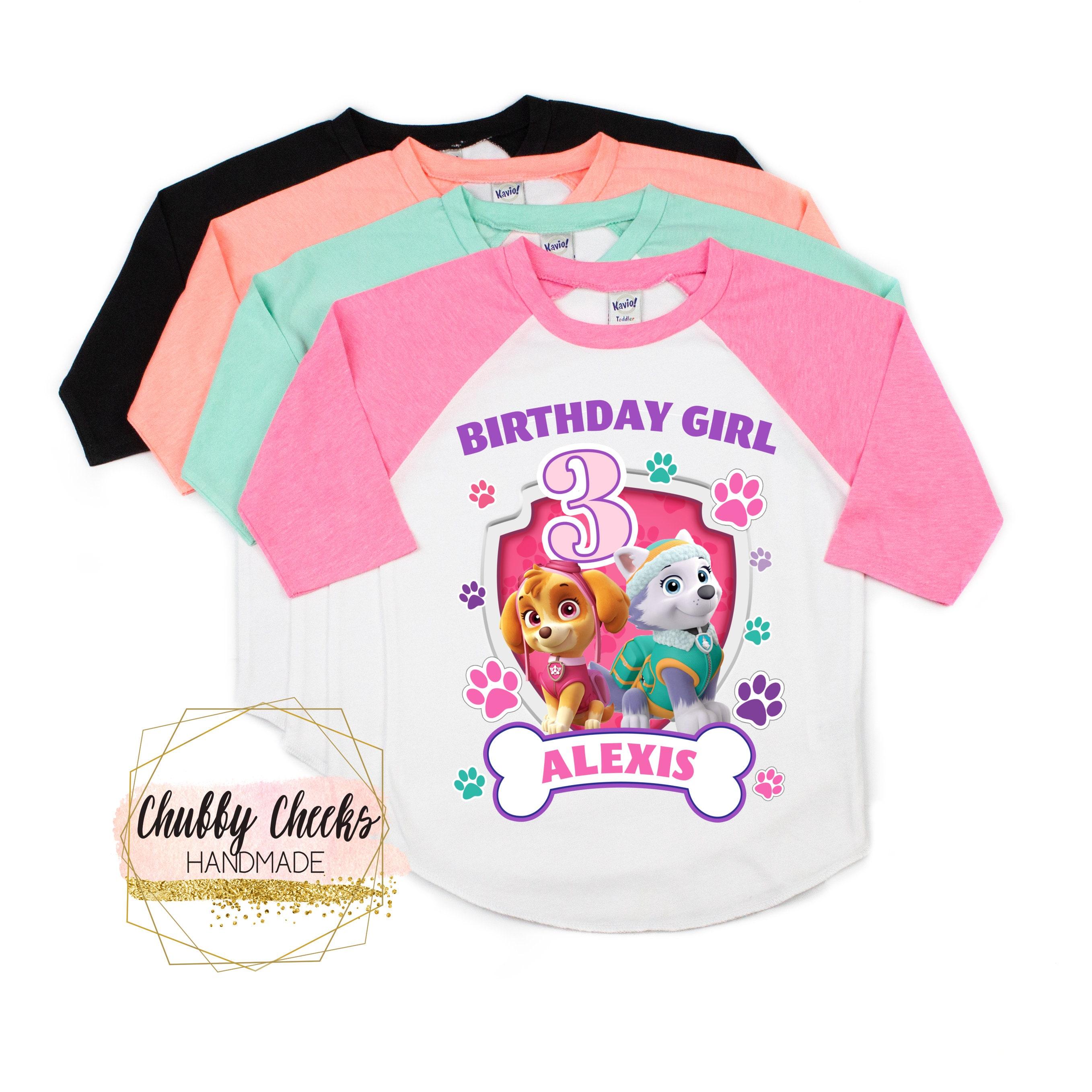 Girls Paw Patrol Birthday Shirt