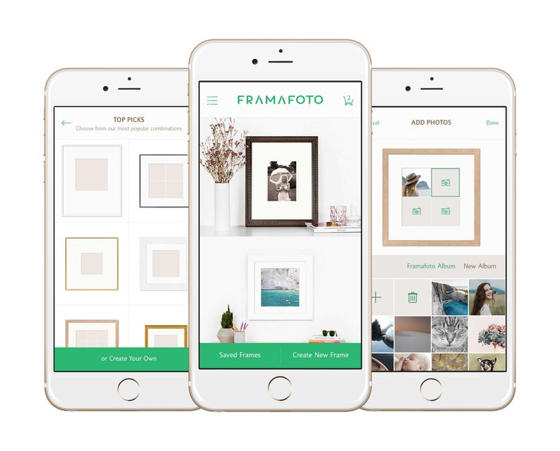 Frame with our free iPhone app! Framafoto: the most creative way to custom  frame your photos or printable art  Printed, Framed, Delivered