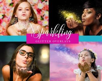 10 Scattered Sparkling Glitter Overlays 300dpi JPG for your Photography
