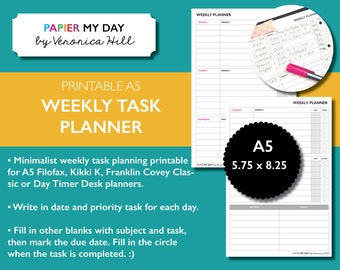 A5 Filofax Student Planner Kit School Schedule Exam And Etsy