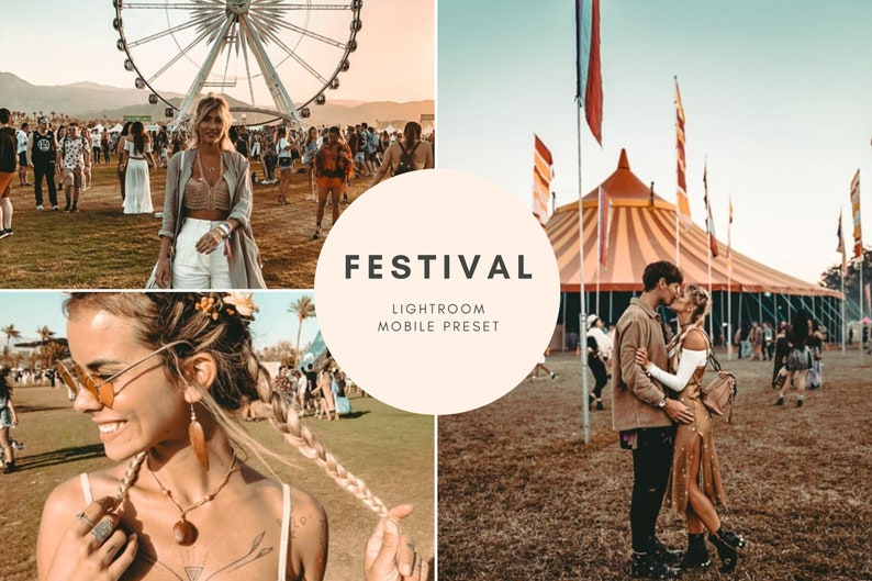 Festival Adobe Lightroom CC for Mobile Presets for Editing Images for use  with the Free Lightroom Mobile App