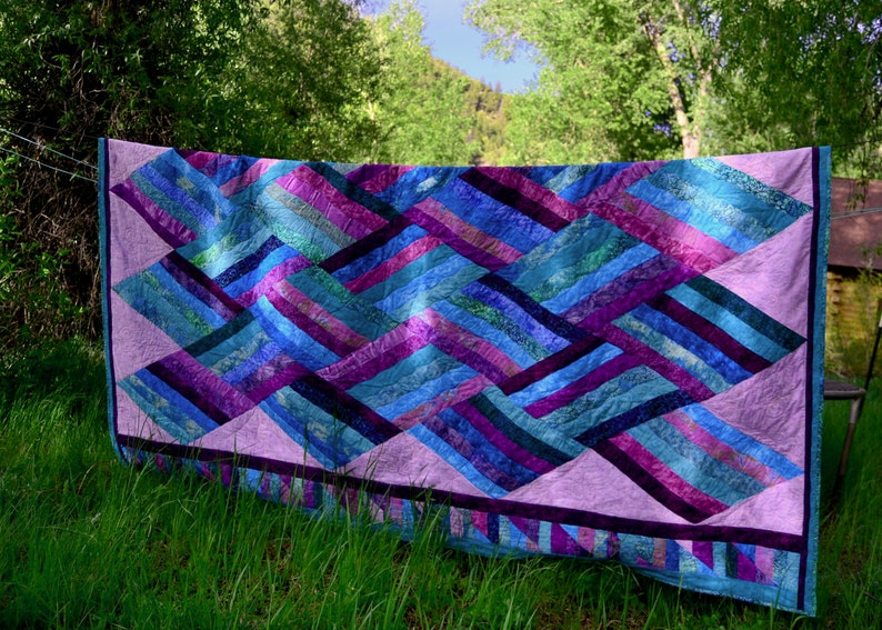 Twilight Tide King Sized Oceanic Quilt 116X103 image 0