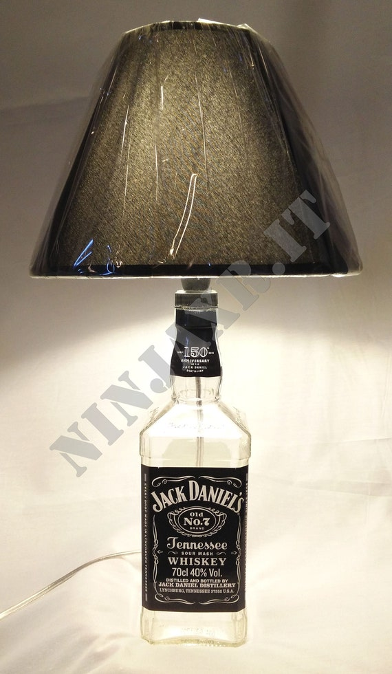 Table Lamp Whiskey Bottle Jack Daniel S Daniels Abat Jour Etsy