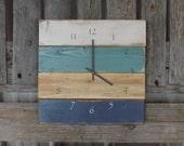 articles similaires palette rustique horloge horloge c tier plage horloge horloge ferme. Black Bedroom Furniture Sets. Home Design Ideas