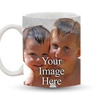 Custom Mug 11 oz Ceramic Photo Coffee Cup, Personalized Your Photo, Family Picture, Pet Photograph, Business Logo, Sports Team Image, Design