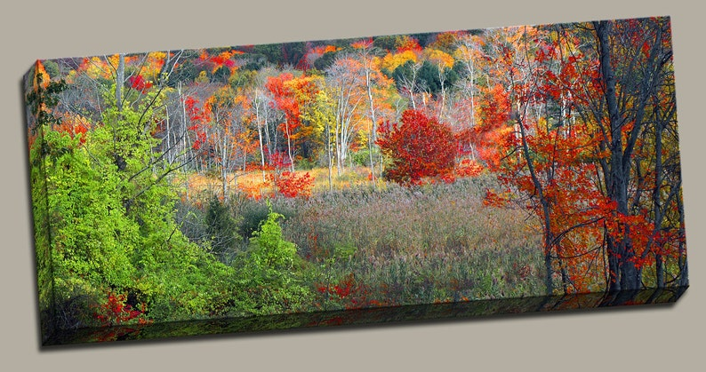 New England Fall Gallery Wrap Canvas Photo Print Fine Wall image 0