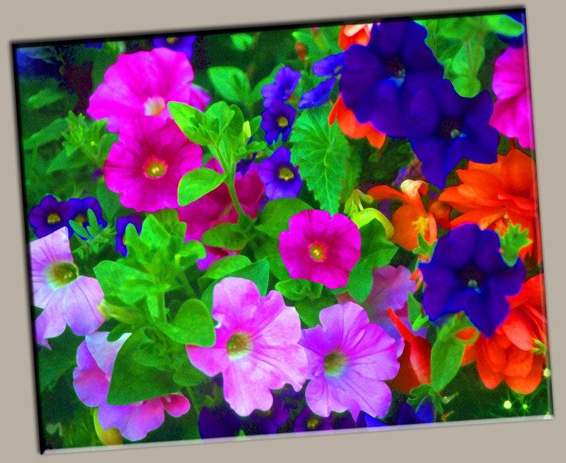 Flower Bunch Gallery Wrap Canvas Photo Print Fine Wall Art image 0