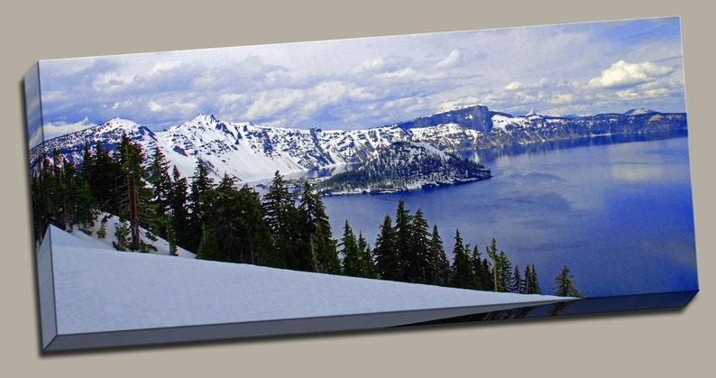 Glacial Lake Gallery Wrap Canvas Photo Print Fine Wall Art image 0