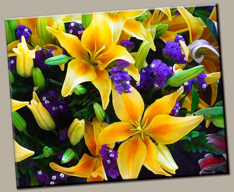 Yellow Daylilies Gallery Wrap Canvas Photo Print Fine Wall image 0