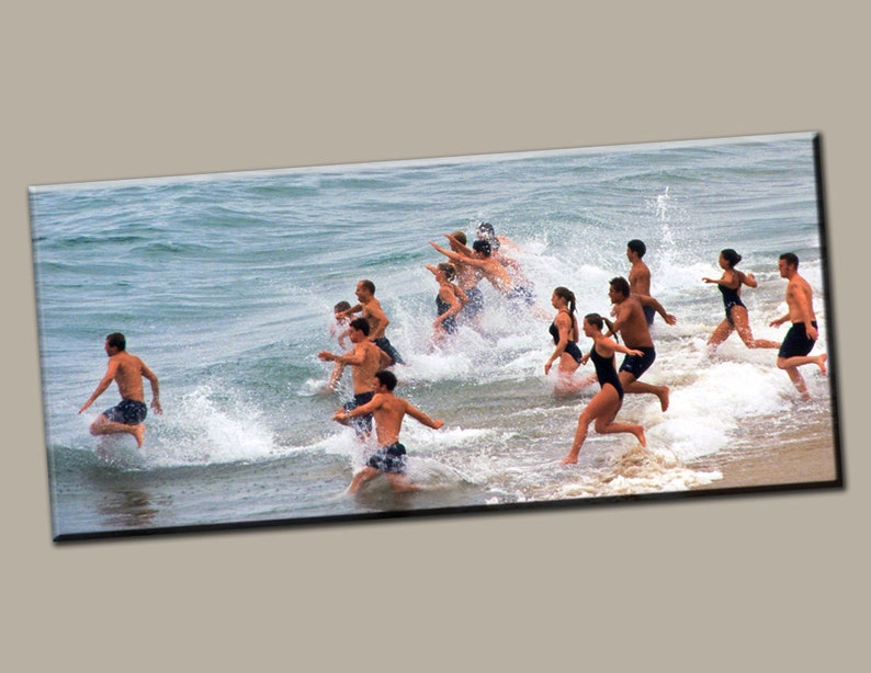 Running into Water Gallery Wrap Canvas Photo Print Fine Wall image 0