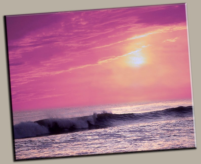 Ocean Sunset Gallery Wrap Canvas Photo Print Fine Wall Art image 0