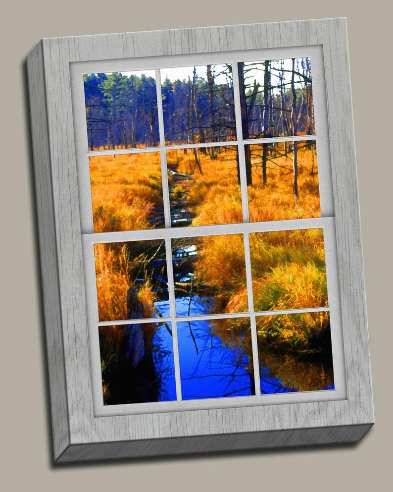 Marsh Faux Window Gallery Wrap Canvas Photo Print Fine Wall image 0
