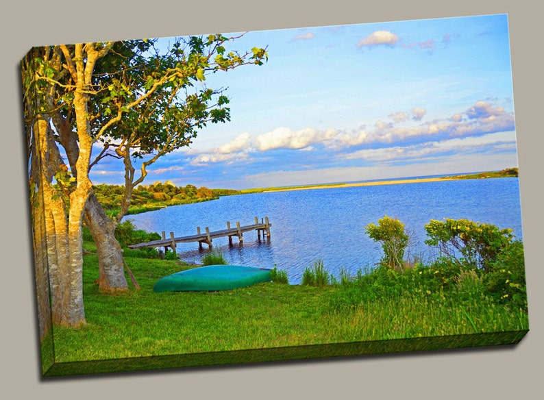 Lakeside View Gallery Wrap Canvas Photo Print Fine Wall Art image 0