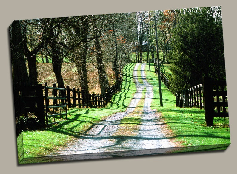 Country Road Gallery Wrap Canvas Photo Print Fine Wall Art image 0