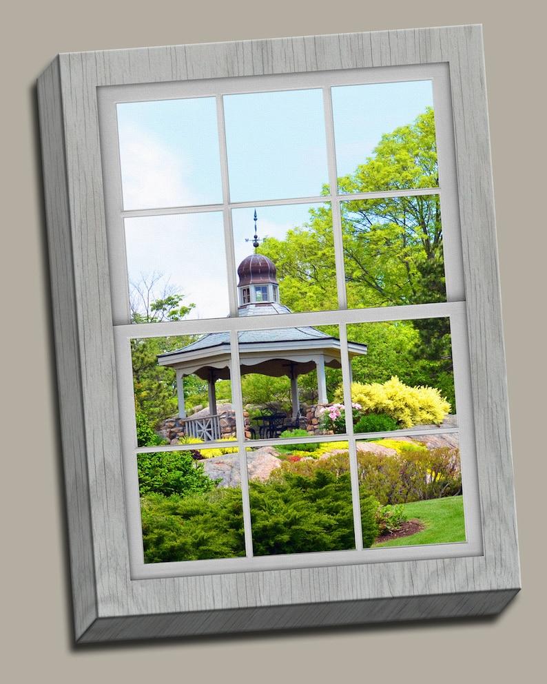 Gazebo Faux Window Gallery Wrap Canvas Photo Print Fine Wall image 0
