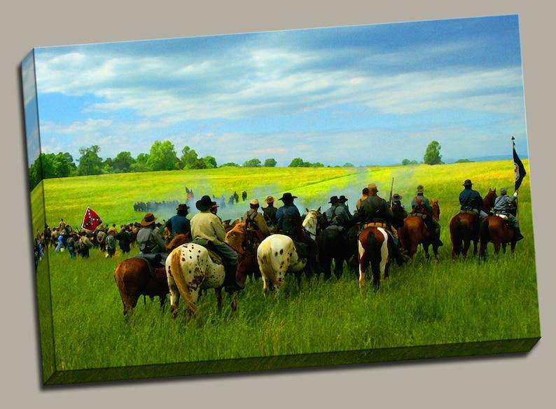 Civil War Reenactment Gallery Wrap Canvas Photo Print Fine image 0