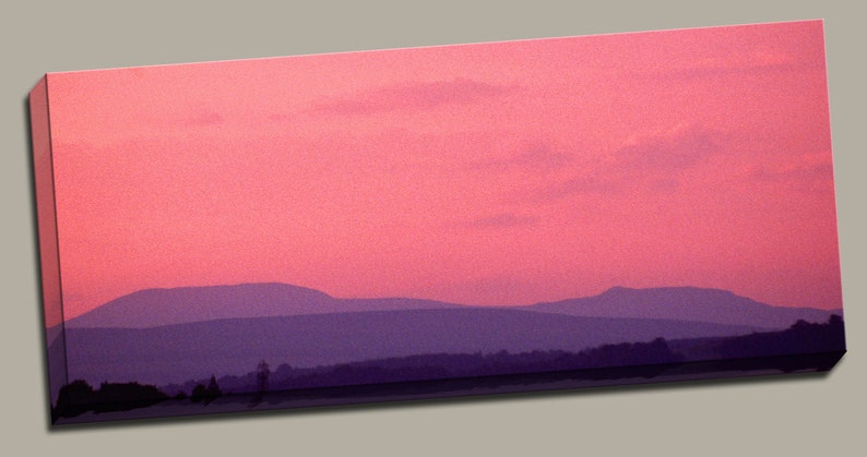 Purple Hills Gallery Wrap Canvas Photo Print Fine Wall Art image 0