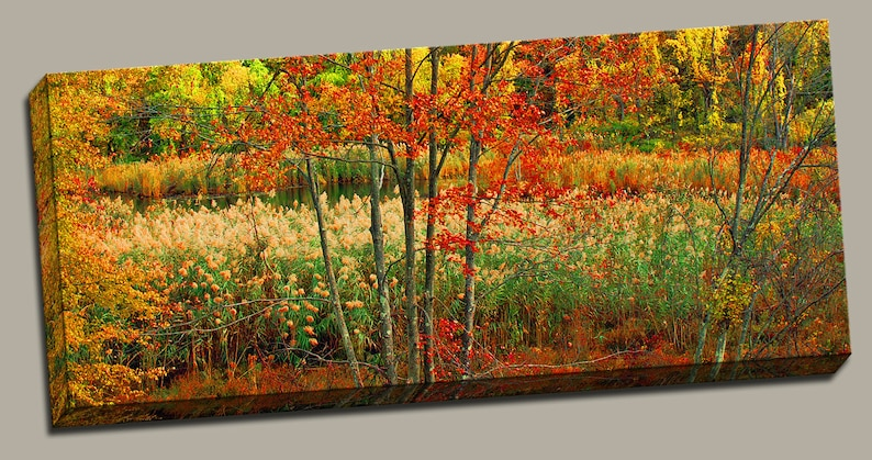 New England Autumn Gallery Wrap Canvas Photo Print Fine Wall image 0