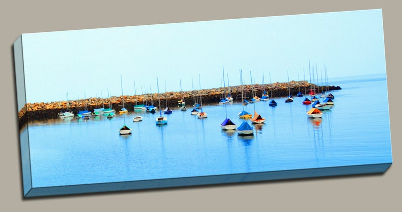 Covered Sailboats Gallery Wrap Canvas Photo Print Fine Wall image 0