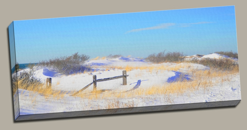 Winter Beach Scene Gallery Wrap Canvas Photo Print Fine Wall image 0