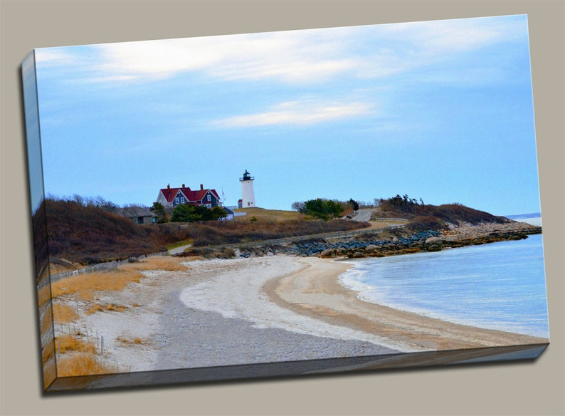 Nobska Point Lighthouse Gallery Wrap Canvas Photo Print Fine image 0