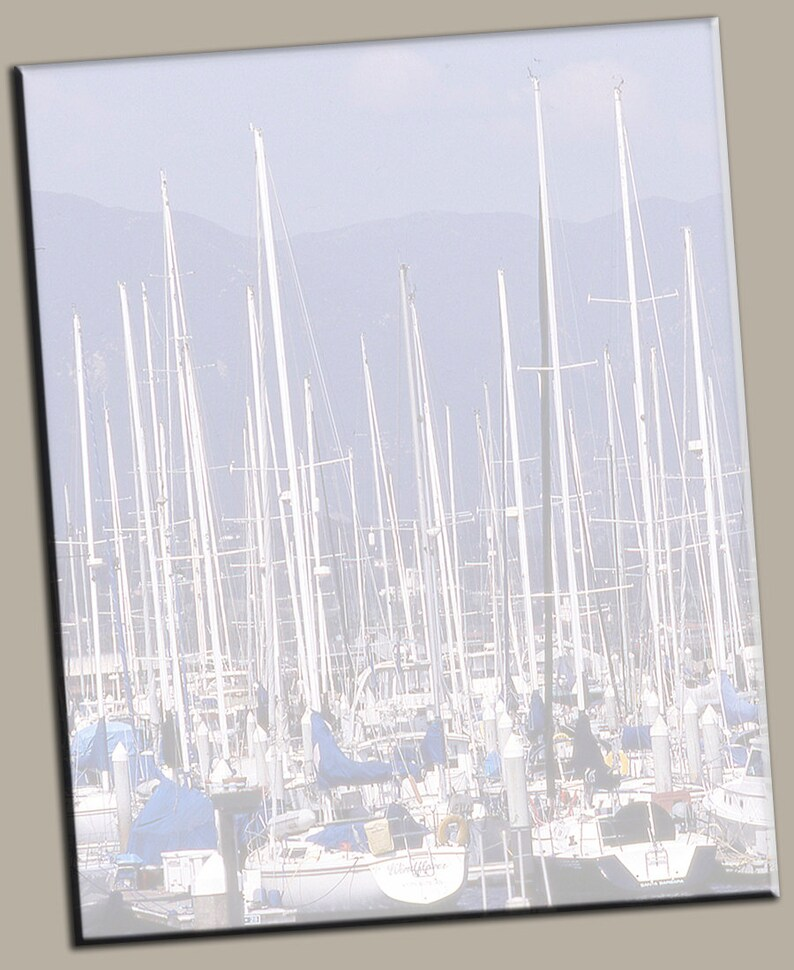 Sailboat Cluster in Fog Gallery Wrap Canvas Photo Print Fine image 0