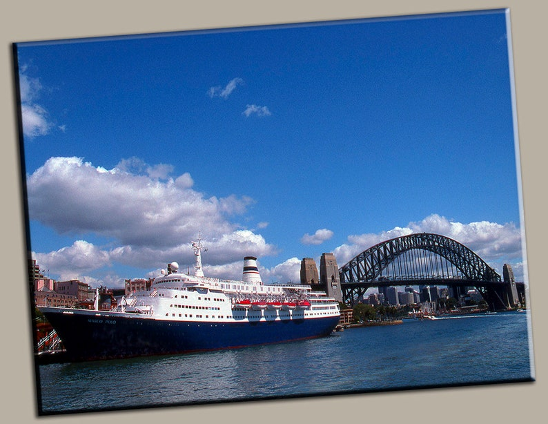 Sydney Harbor Gallery Wrap Canvas Photo Print Fine Wall Art image 0