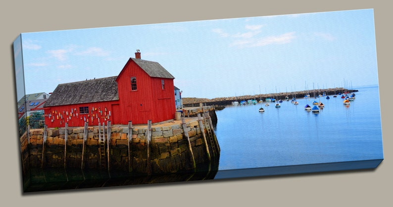 Wooden Fishing Shack Gallery Wrap Canvas Photo Print Fine Wall image 0