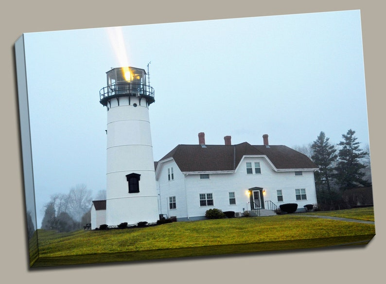 Chatham Lighthouse Gallery Wrap Canvas Photo Print Fine Wall image 0