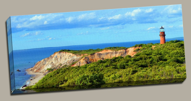 Gay Head Lighthouse Gallery Wrap Canvas Photo Print Fine Wall image 0