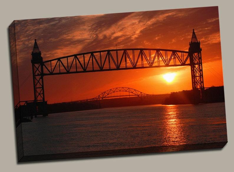Cape Cod Bridges Gallery Wrap Canvas Photo Print Fine Wall image 0
