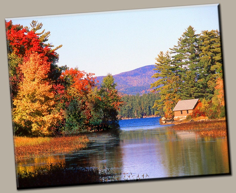 Cabin by the Lake Gallery Wrap Canvas Photo Print Fine Wall image 0