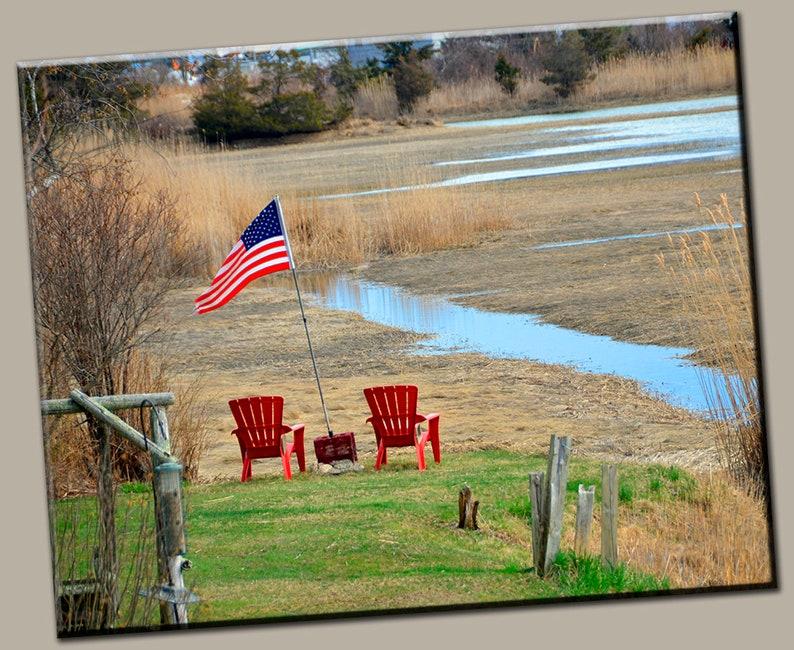 Americana Gallery Wrap Canvas Photo Print Fine Wall Art USA image 0