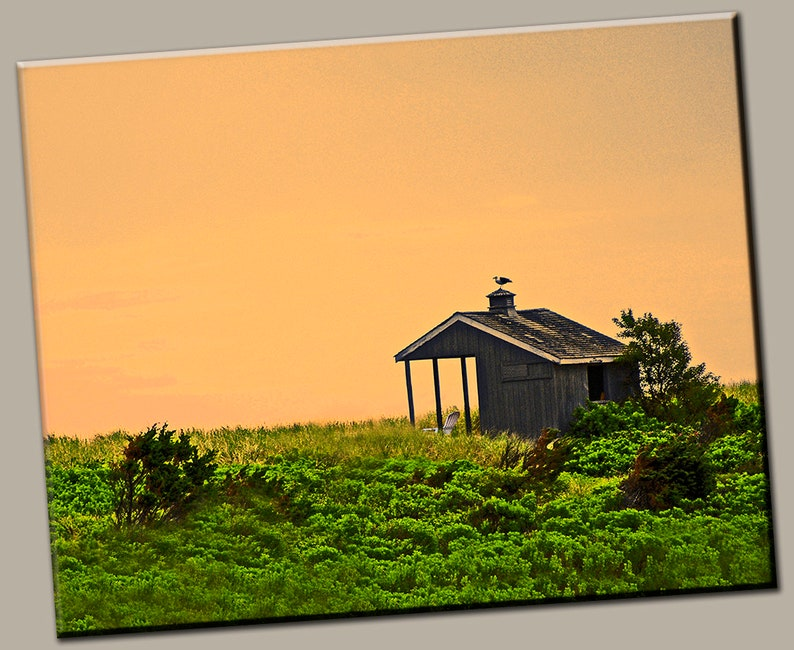 Sunset Cabin Gallery Wrap Canvas Photo Print Fine Wall Art image 0
