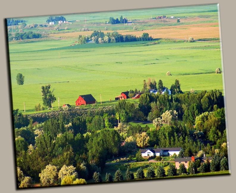 Farmland Overlook Gallery Wrap Canvas Photo Print Fine Wall image 0