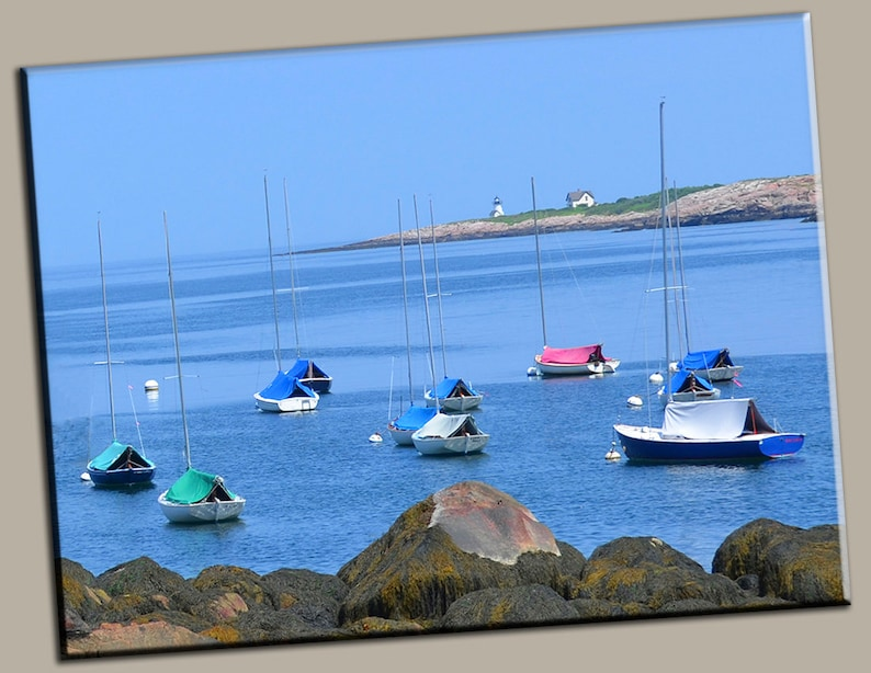 Sailboats at Rest Gallery Wrap Canvas Photo Print Fine Wall image 0