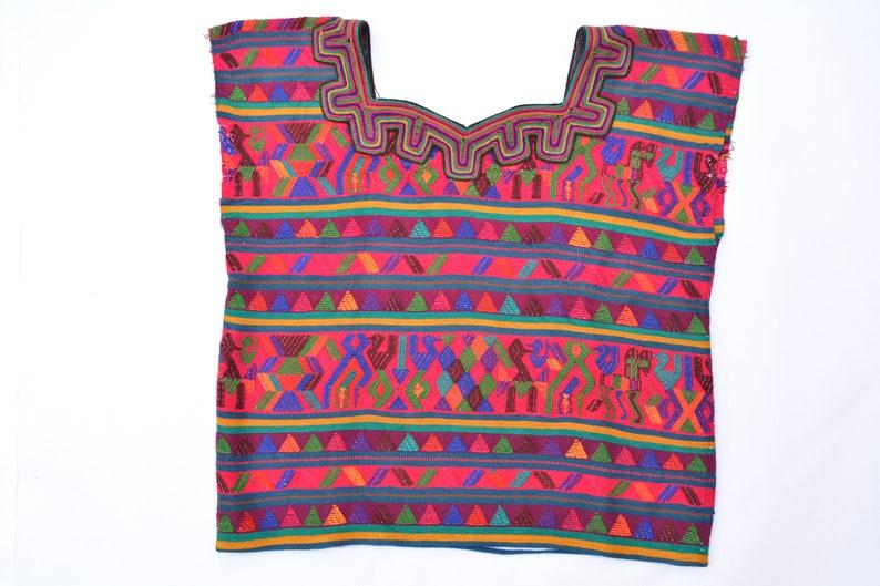Boho girl huipil Bohemian outfit for kids girls Mayan blouse Guatemalan huipil Vintage Mayan boho Girls Top Boho chic blouse for girl