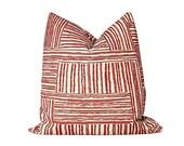 Burnt Orange Pillow Cover / Boho Chenille Pillow / Justina Blakeney