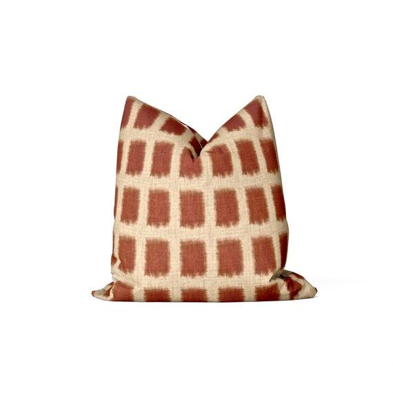 Enjoyable Rust Boho Pillow Cover Geometric Pillow Bralicious Painted Fabric Chair Ideas Braliciousco