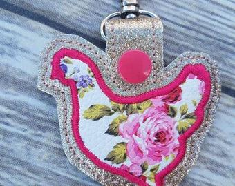 Floral hen keychain dd37e75514