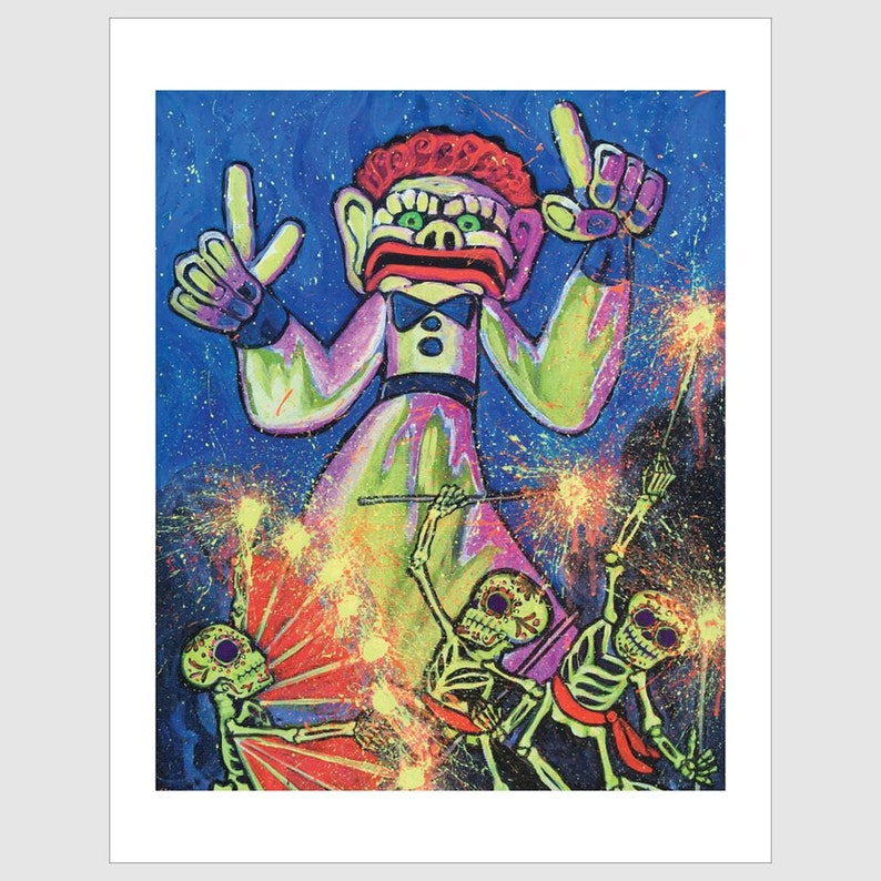 Glow Of Gloom >> 6x9 Zozobra Glow Greeting Card By Sean Wells Old Man Gloom Etsy