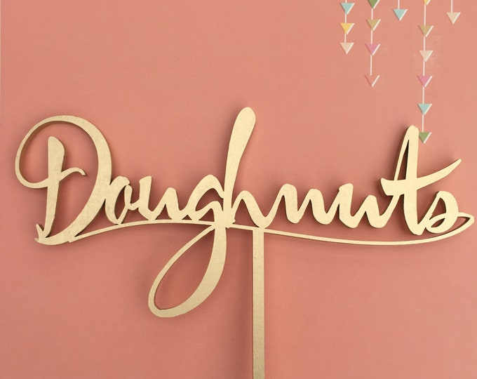 Doughnuts Table Sign. Events Table Sign. Garden Line.