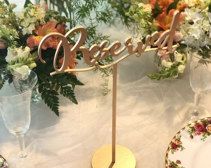 Reserved Table Signs. Reserved Table. - Set of 3 - Gold - Silver - DIY - Garden Line