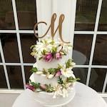 BEST SELLER! Cake Topper Initial- One Letter Cake Topper - Wedding Cake Topper With Initial - Monogram Cake Topper