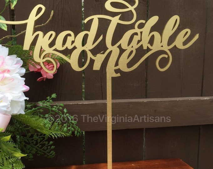 Head Table Sign - Head Table Wedding Sign - Head Table Signage - Family Table Sign - Wedding Head Table Decor