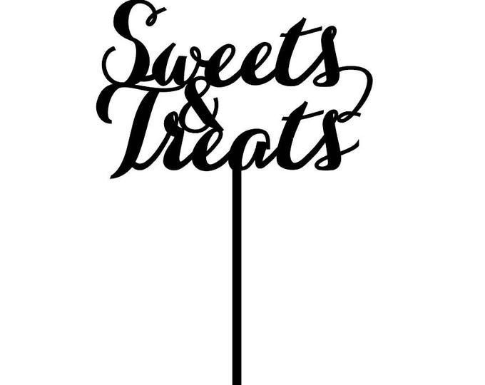 Sweets & Treats Sign, Event Signage, Sweets and Treats, Elegance Line